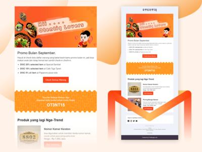 Design Email Promotion for Otentiq.id