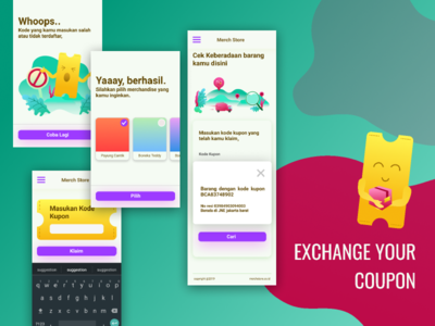 UI Mobile Design of Coupon Exchange