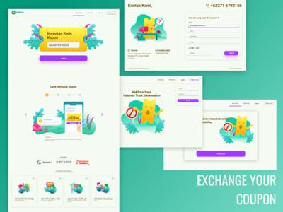 Website Design of coupon exchange (Giftkita.com)
