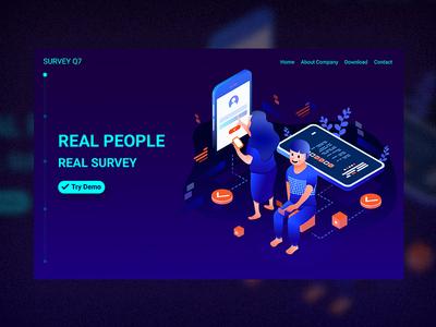 Illustration of online survey