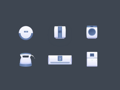 Household appliances Icon ui household big sur appliances 2.5d icon smarthome