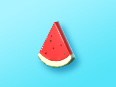 Fruit Icon watermelon summer 3d icon 3d icon