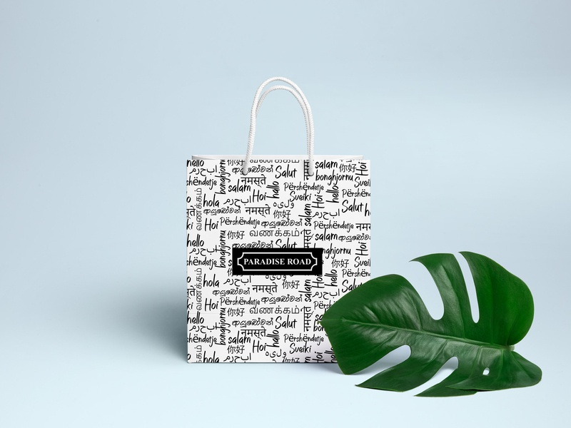 Shopping Bag Design hand lettering languages brand identity shopping bag typeface design typography concept