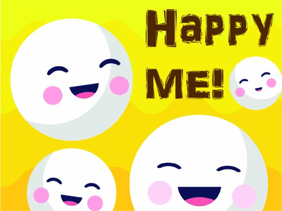Creative Happiness in the midst of Covid 19. stressed covid19 happiness creative cute illustration me happy emoji illustration design dailydoodle