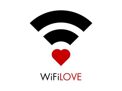 Wifi Love graphic design illustrator playground fun minimal love wifi
