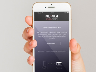 Fujifilm Camera Remote App mockup design concept redesign app remote camera fujifilm