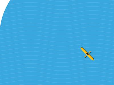 Kayak graphic minimal water boat kayak