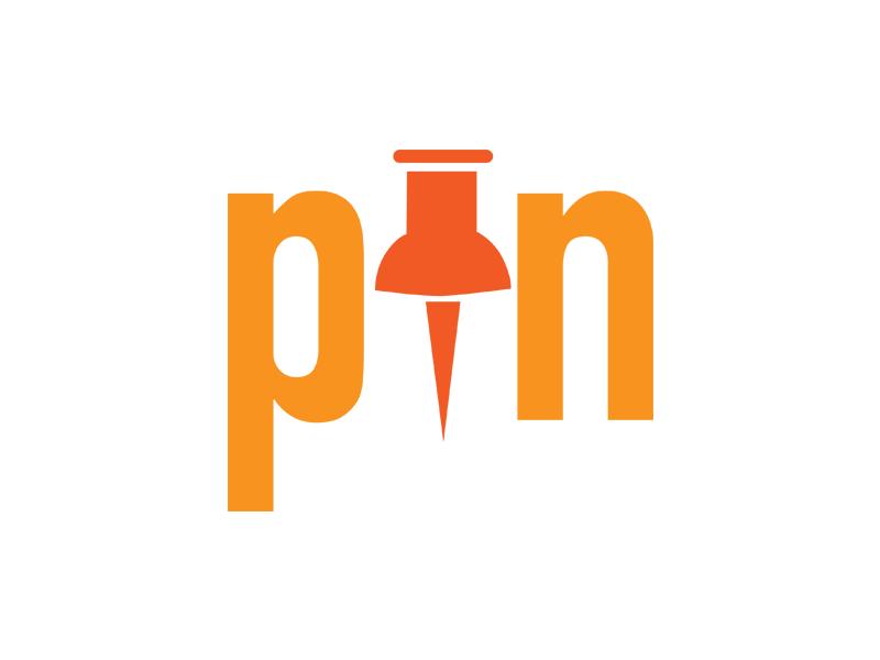 Pin simple minimal wordporn wordplay logo pin