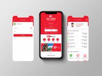 NIC Asia Mobile App UI