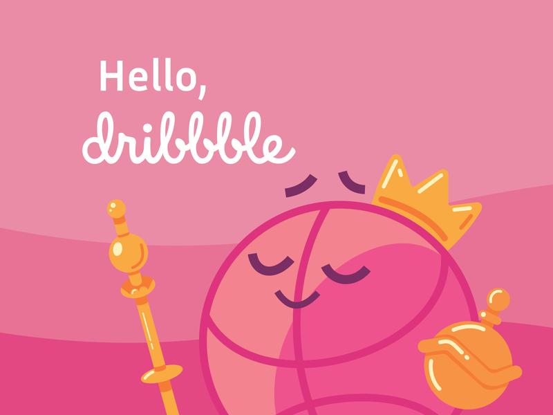 Hello, Dribbble! agency art branding design illustration