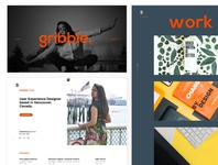 Portfolio website design concept