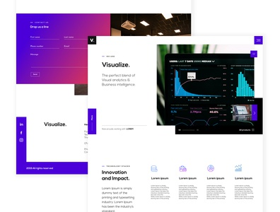 Visualize corporate website concept