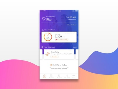 Dashboard variant - Health App