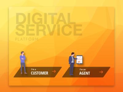 User selection Screen - Digital Kiosk