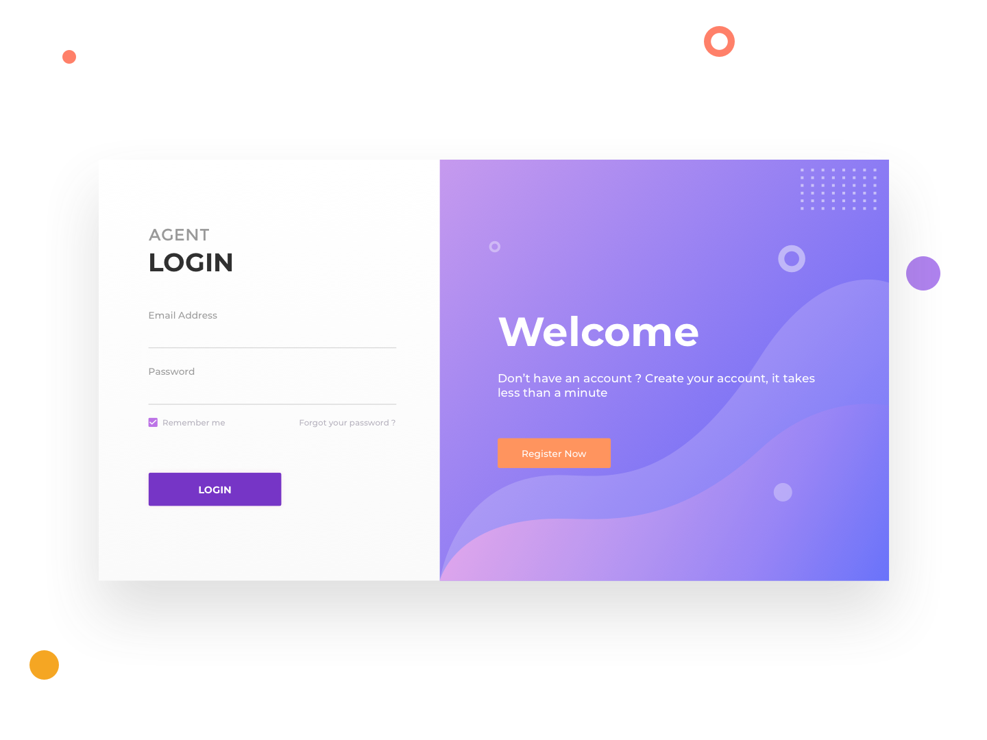 Agent Login Page login form illustration login page sketch web signin login ui