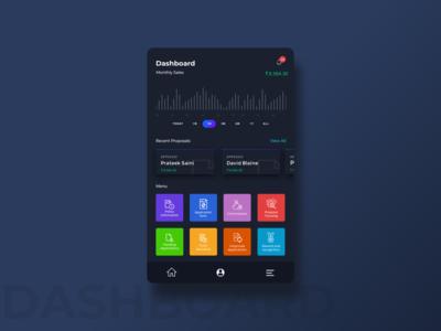 Dashboard Dark - Agent App