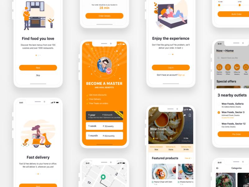 Food App Concept product user interface design design iphonex sketch food app food