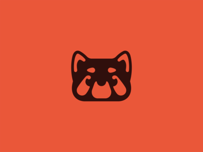 Red Panda animal red panda flat branding vector logo design