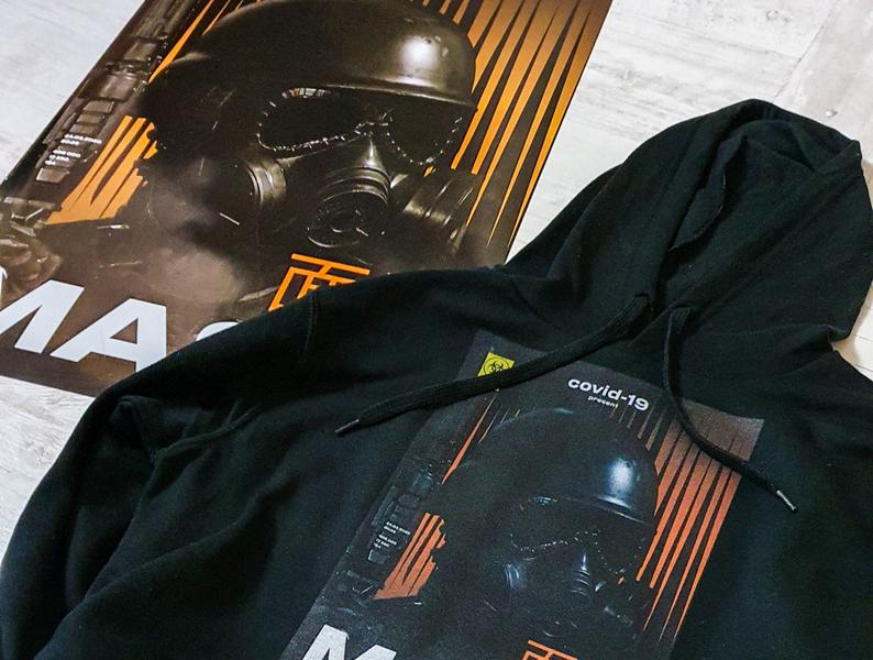 Covid-19 present MASK print design wear a2 poster covid-19 print design