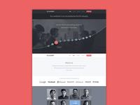 ThoughtSpot webdesign - Infographic vizualization