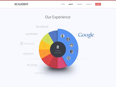 Infographic - Pie chart visualization infographic pie chart 3d shadow avatar visualization thoughtspot companies google nutanix facebook