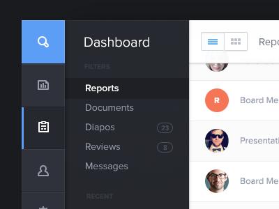 Admin Dashboard dashboard mobile file clean tablet ui menu avatar admin segment thoughtspot