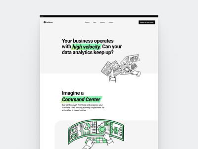 NetSpring - Stealth Site saas branding space clean illustration flat web webdesign minimal white