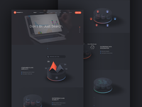 ThoughtSpot - Product page with animated 3D infographics
