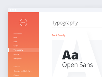 Product Guidelines navigation web whitespace minimal thin icons typography library pattern guidelines