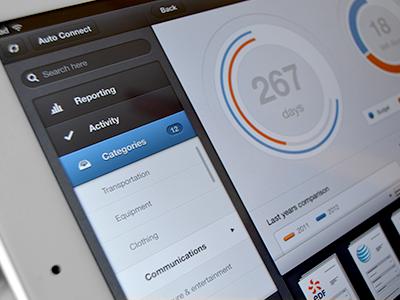 Archivme iPad app - iOS sush.io archivme ipad app infographic ios file chart menu button rootview retina