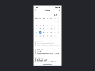 iOS Calendar App