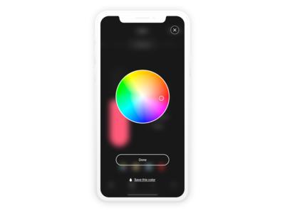 Smart Home – Lights Color Picker