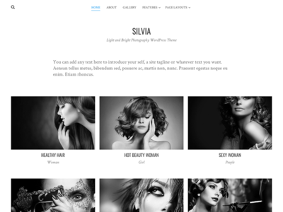 Silvia wordpress web design website web