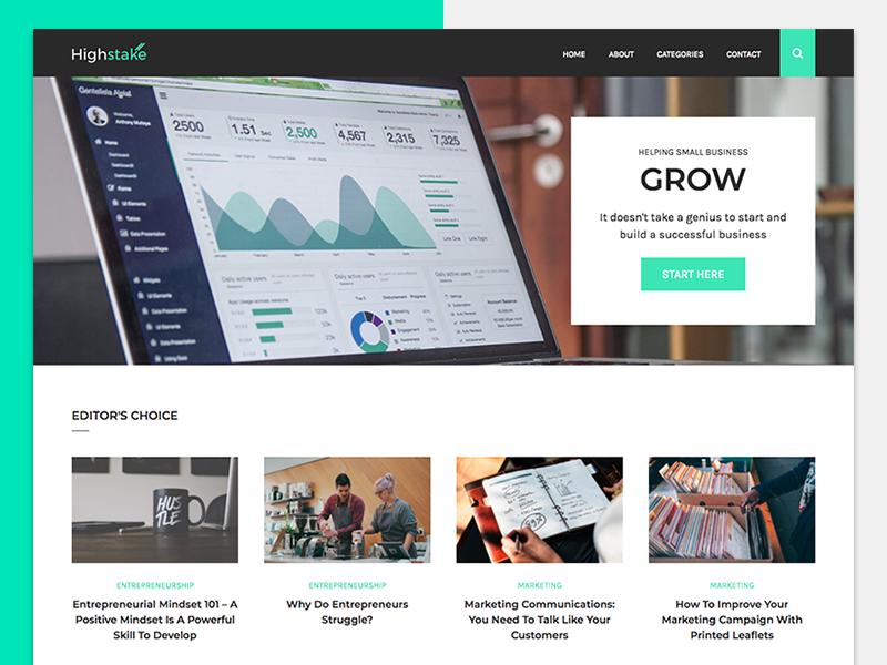 Highstake green blog wordpress website web design web