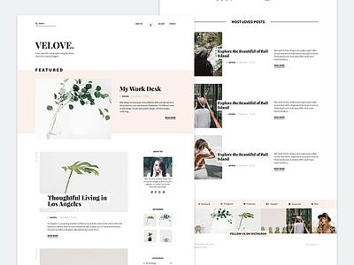 Velove palm blog wordpress webdesign web design website web