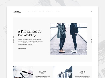 Venissa web website web design webdesign wordpress blog white