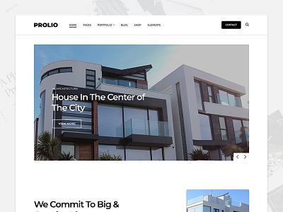 Prolio architecture portfolio wordpress web design website web