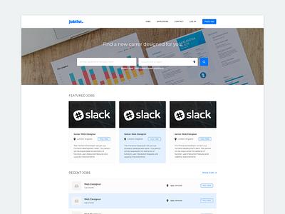 Joblist job board business blue webdesign web design wordpress website web