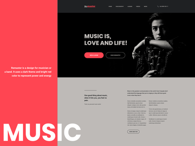Remaster adobe xd music web design website web
