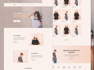Ultrastore ecommerce adobe xd wordpress web design website web