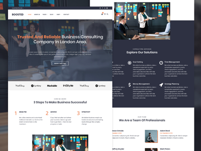 Boosted consultant wordpress business adobe xd webdesign website web design web