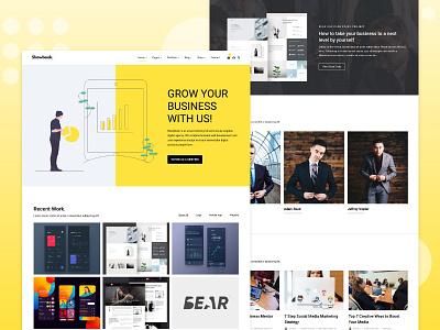 Showbook creative portfolio adobe xd webdesign wordpress web design website web
