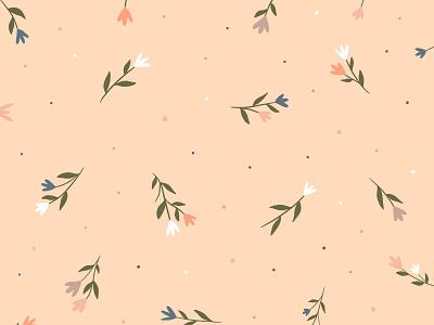 Floral Pattern blush pink pattern floral art design flowers illustration