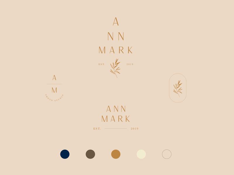Ann Mark photography graphicdesign botanical type logo mark design brand branding design logodesign logo branding