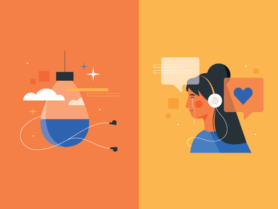 Audiobook Emotions seo marketing feeling headphones crying imagination infographic vector design emotion people book audiobooks illustration
