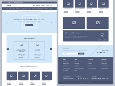 UX Flow | Wireframe for Ecommerce Website