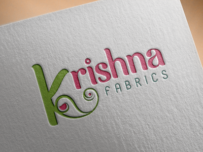 Logo Design for Krishna Fabrics