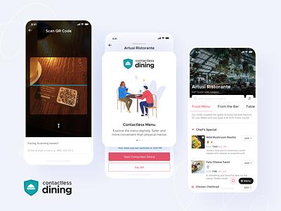 Zomato Contactless Dining minimal food branding shot app interaction design ui ux ux ui inspiration design