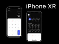 Iphone Xr Calculator Daily UI Challenge #004