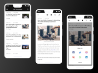 The Newsstand app with Social Share Daily UI Challenge #010